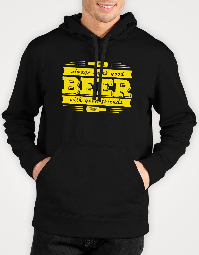 Always-drink-good-beer-with-good-friends-mens-black-hoodie