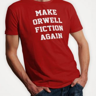make-orwell-fiction-again-mens-red-tshirt