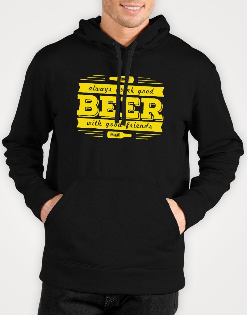 Always-drink-good-beer-with-good-friends-mens-black-hoodie
