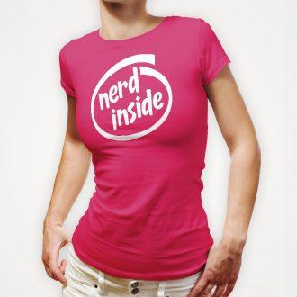 nerd-inside-ladies-hot-pink-tee