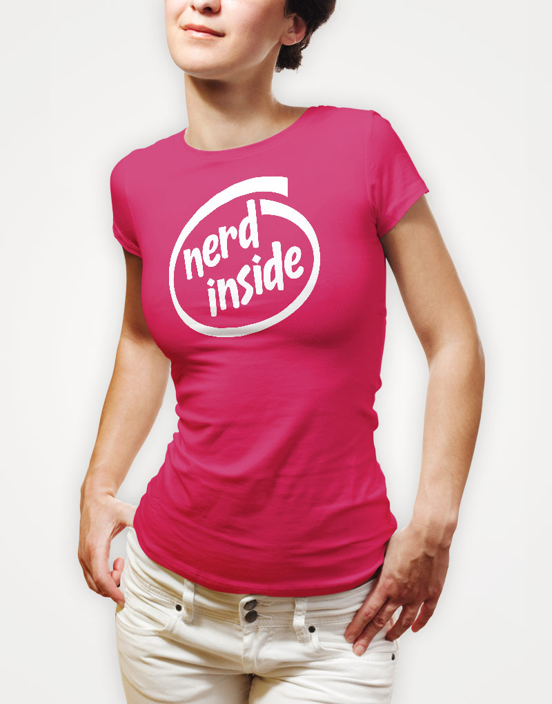 nerd-inside-ladies-hot-pink-tee