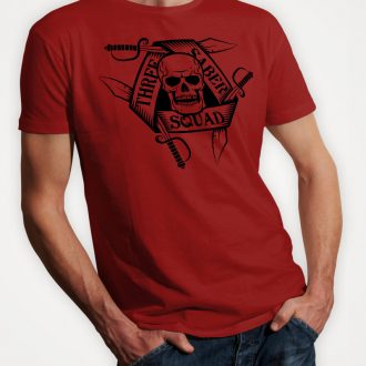 three-saber-squad-mens-red-tshirt